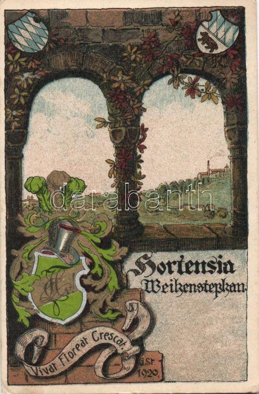 Hortensia Weihenstephan, Vivat, Fioreat, Crescat / Bavarian studentica, litho