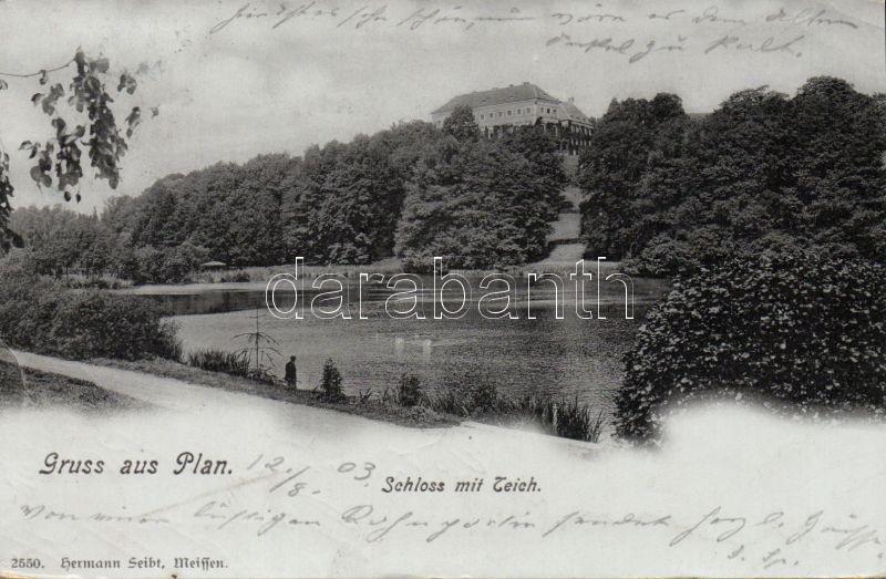 Planá, Plan; castle, lake