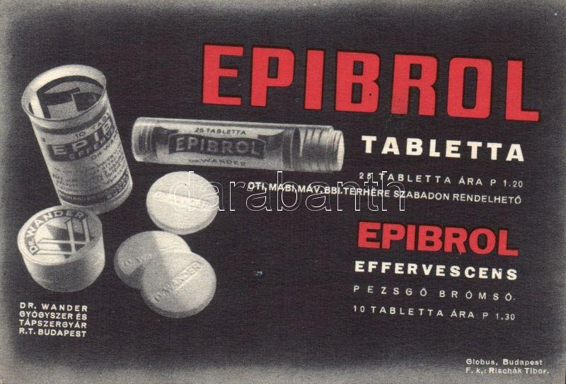 Epibrol, medicine advertisement, Epibrol, gyógyszer reklám