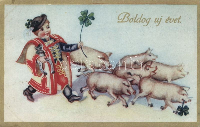 New Year, Hungarian folklore, Újév, magyar folklór