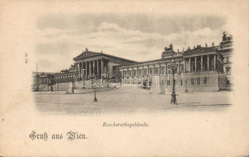 Bécs, Reichsratsgebäude / Birodalmi tanács épülete, Vienna, Reichsratsgebäude / imperial council
