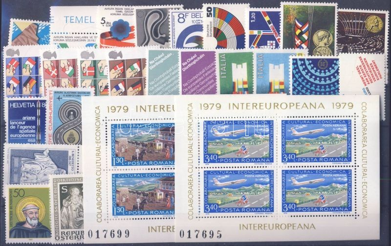 1978-1980 events 15 diff. countries, 24 diff. stamps + 2 block, 1978-1980 események 15 klf ország, 24 klf bélyeg + 2 blokk, 1978-1980 Ereignise 15 verschiedene Länder, 24 verschiedene Marken + 2 Blöcke