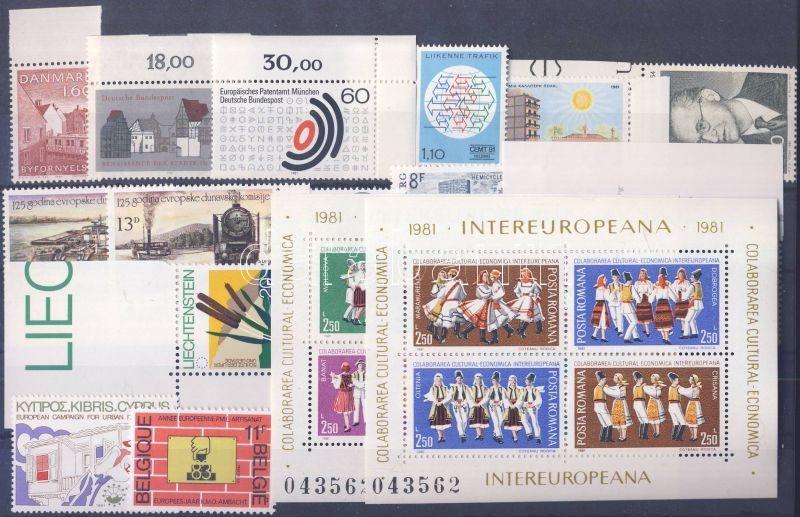 Events 13 diff. countries, 14 diff. stamps + 2 block, Események 13 klf ország, 14 klf bélyeg + 2 blokk, Ereignise 13 verschiedene Länder, 14 verschiedene Marken + 2 Blöcke