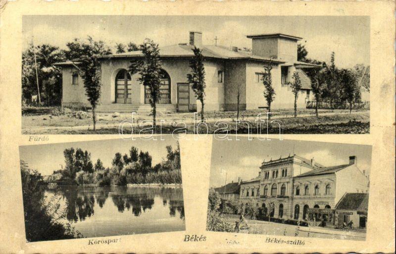 Békés, Fürdő, Körös part, Békás szálló