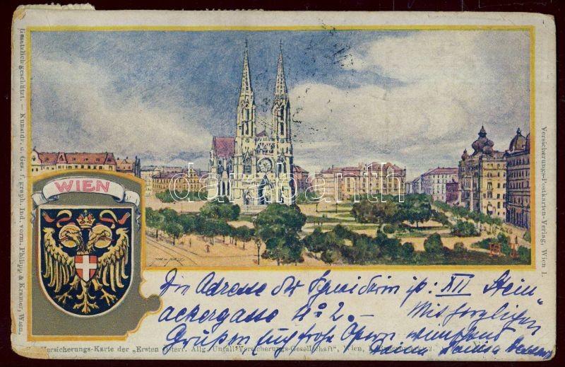 Vienna postcard with 5x1h franking, Bécsi helyi képeslap 5x1h bérmentesítéssel, PS-card aus Wien