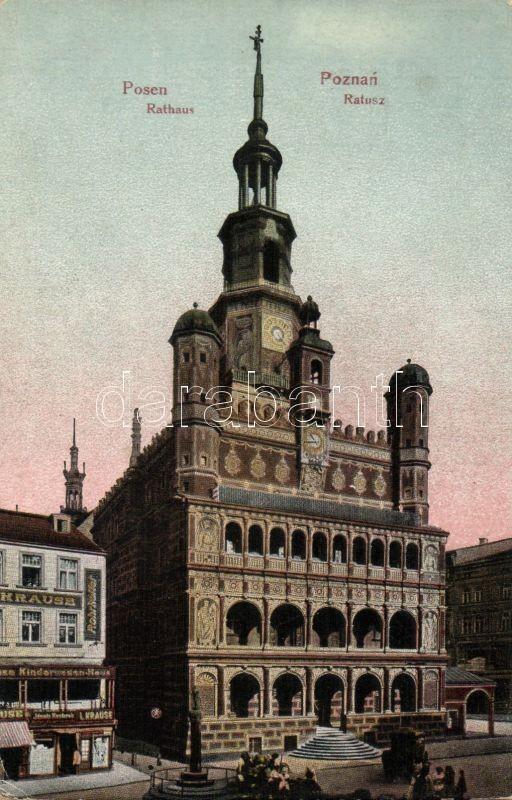Poznan, town hall, shop of L. Krause, Poznan, városháza, L. Krause üzlete