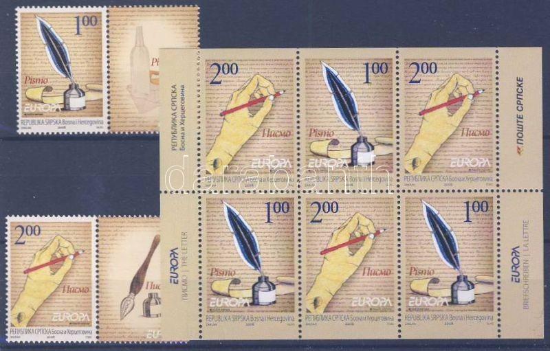 EUROPA Cept, The letter set with coupon + mini sheet, EUROPA Cept, A levél sor szelvénnyel + kisív, EUROPA Cept, Der Brief Satz mit Zierfeld + Kleinbogen