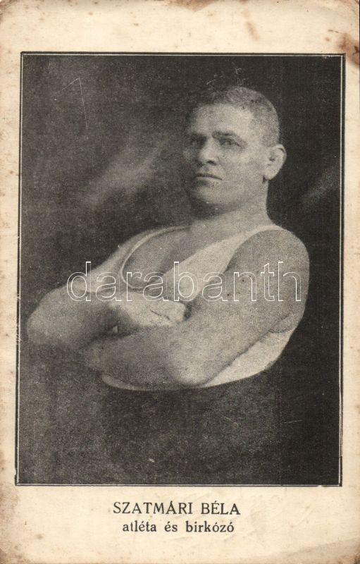 Béla Szatmári athlete and wrestler, Szatmári Béla atléta és birkózó