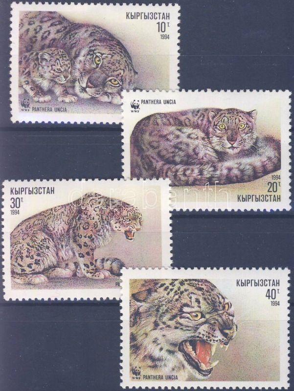 WWF Snow Leopard set + 4 FDC, WWF Pantera sor + 4 FDC, WWF Schneeleopard Satz + 3 FDC