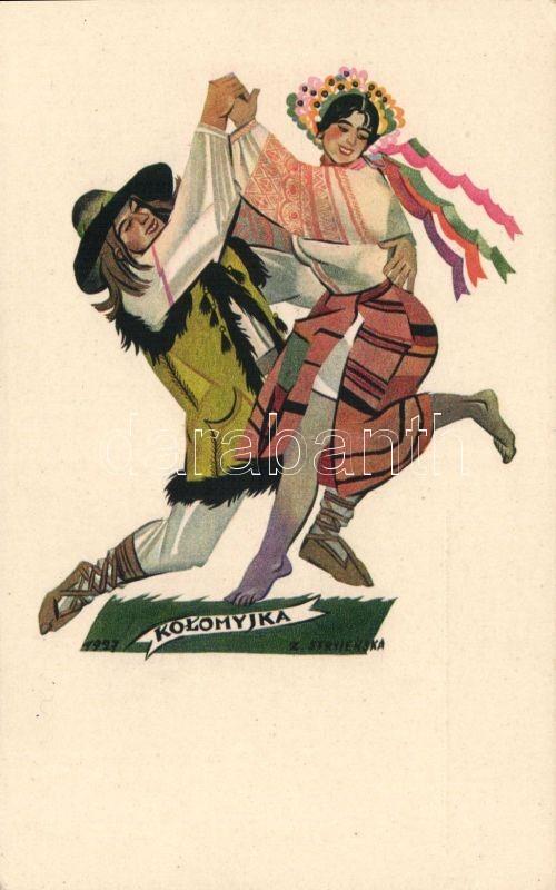 Polish folklore, Kolomyjka folkdance s: Stryjenska, Lengyel folklór, Kolomyjka néptánc s: Stryjenska