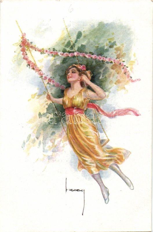 Swinging lady 'Erkal Nr. 352/2.' s: Usabal, Hintázó hölgy 'Erkal Nr. 352/2.' s: Usabal