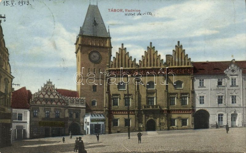 Tábor Town hall with the Publishing Office of K. Jansky