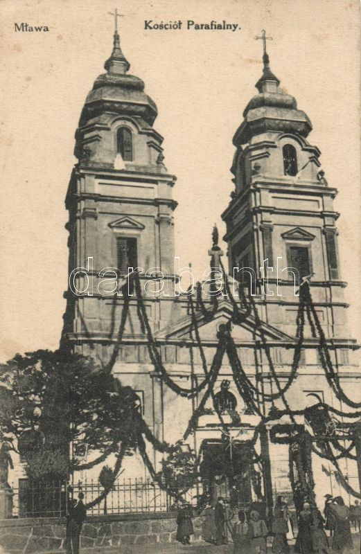 Mlawa, Kosciol Parafialny / church, fest