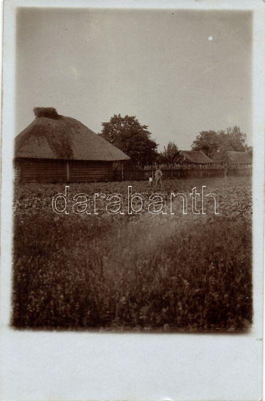 Olszewo, Olciewo; wooden houses, photo