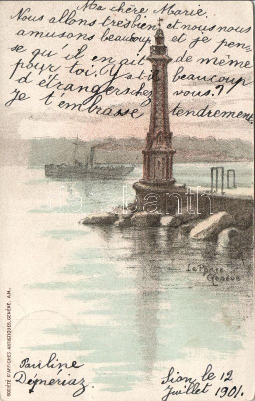 Geneva, Le Phare / lighthouse, ship