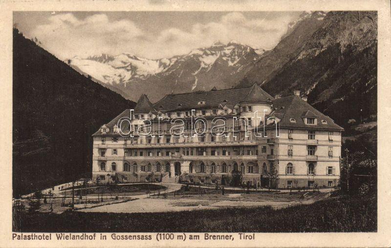 Colle Isarco, Gossensass; Palasthotel Wielandhof / hotel