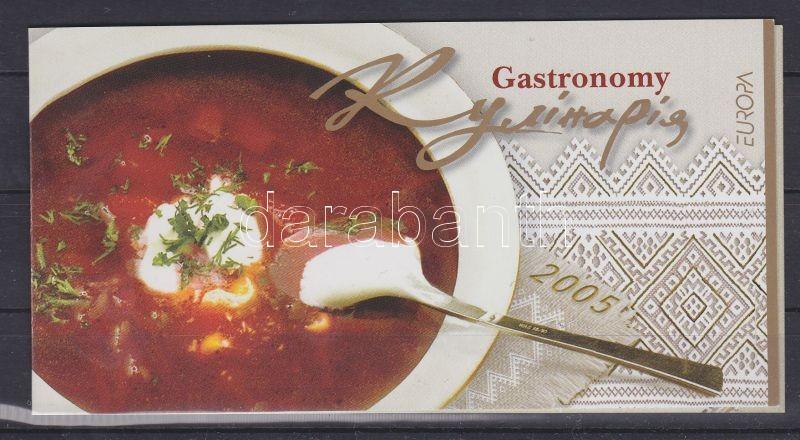 Europa CEPT Gastronomy stamp booklet, Europa CEPT Gasztronómia bélyegfüzet, Europa CEPT Gastronomie Markenheftchen