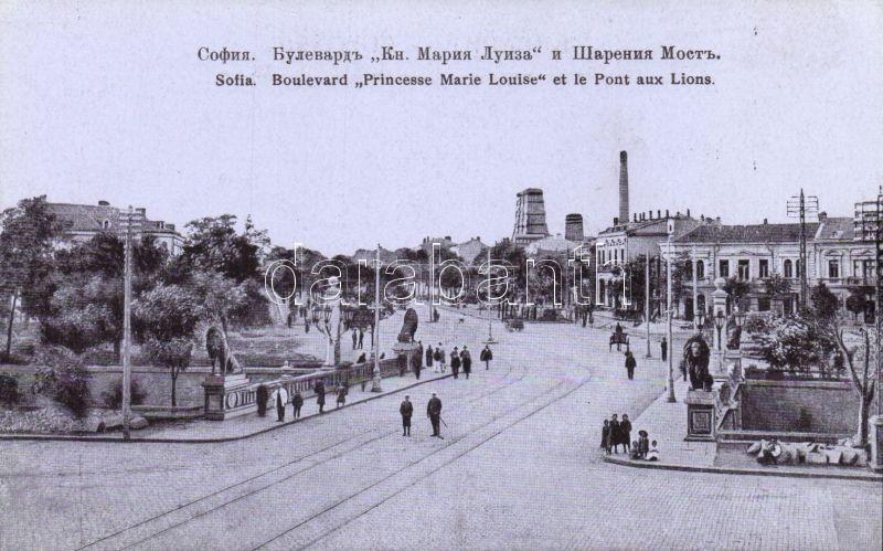 Sofia, Boulevard 'Princesse Marie Louise' et le Pont aux Lions / Princess Marie Louise boulevard, bridge