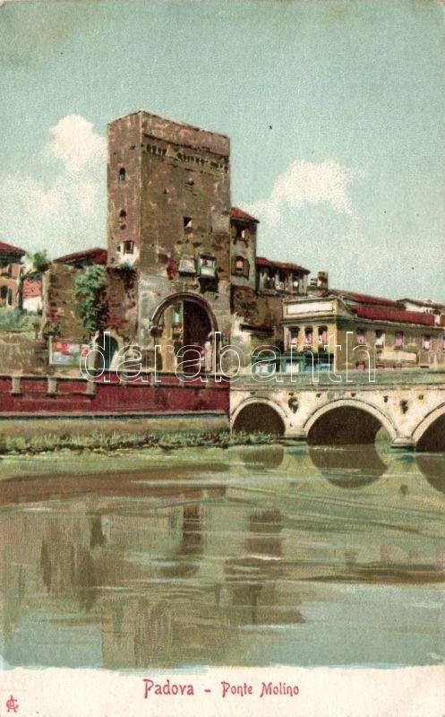 Padova, Ponte Molino / bridge litho