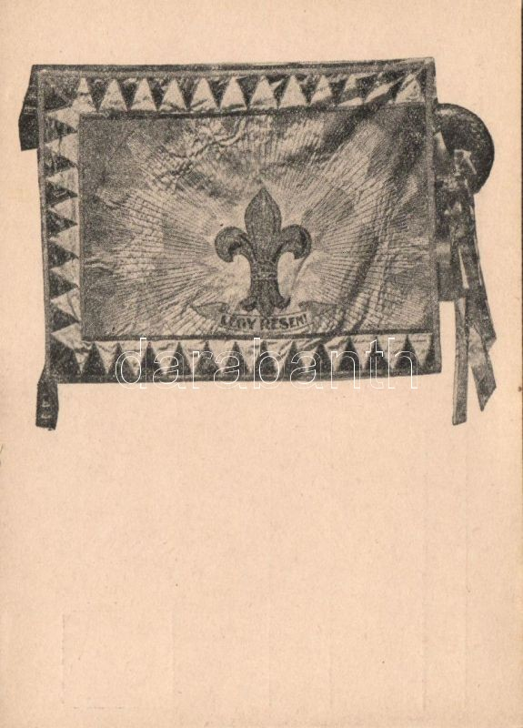 Flag; Lehel scouting group no.95, Légy résen, cserkész zászló, 95. sz. 'Lehel' cserkészcsapat kiadása