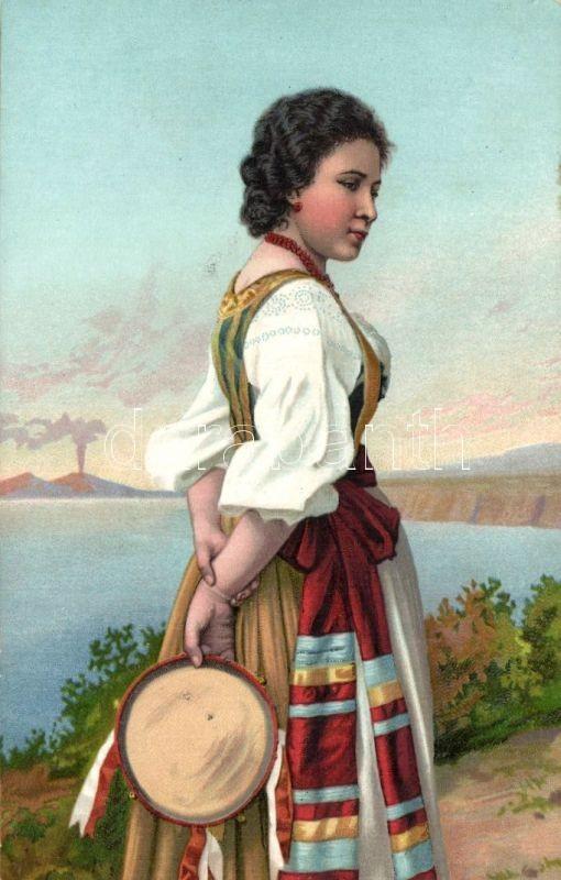 Italian folklore litho, Olasz folklór litho