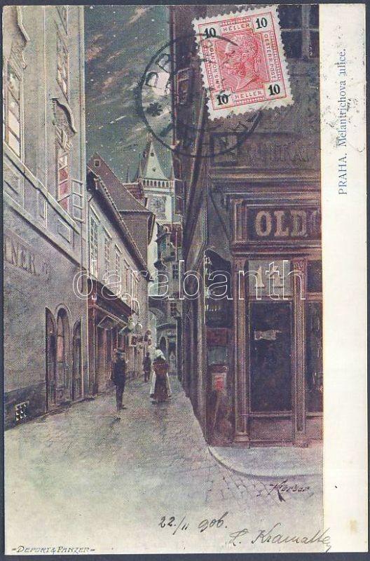 Praha, Prag; Melantrichova ulice / street s: Körber