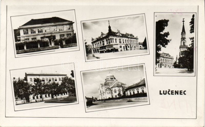 Losonc synagogue, church, school, So.Stpl, Losonc zsinagóga, Református templom, iskola, So.Stpl
