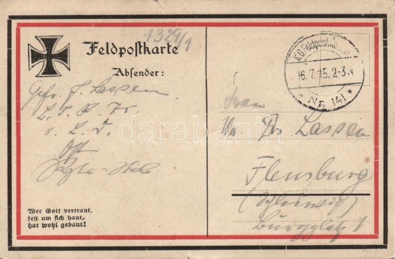 1915 'Treu leben, todtrotzend kämpfen, lachend sterben' / German Early NS propaganda, Német propaganda