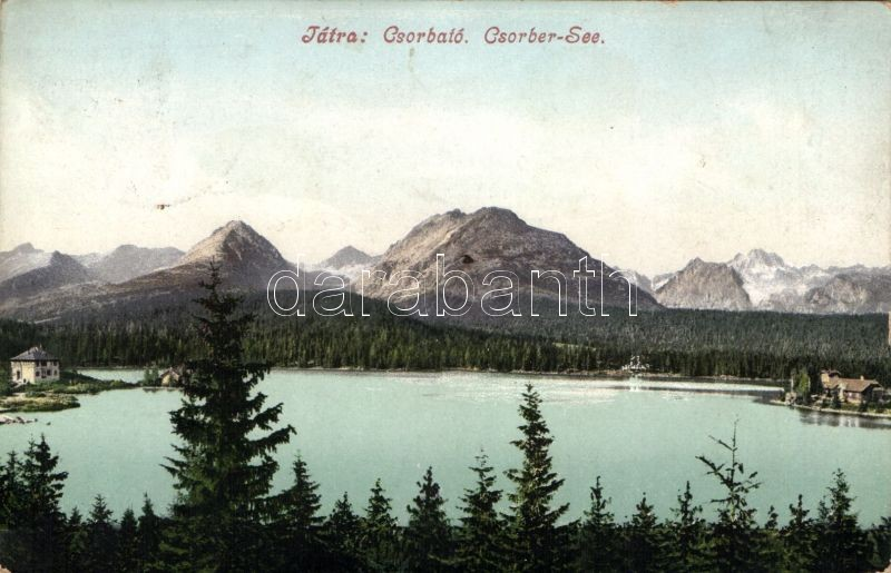Tatra Strbské pleso / lake, Tátra, Csorba-tó