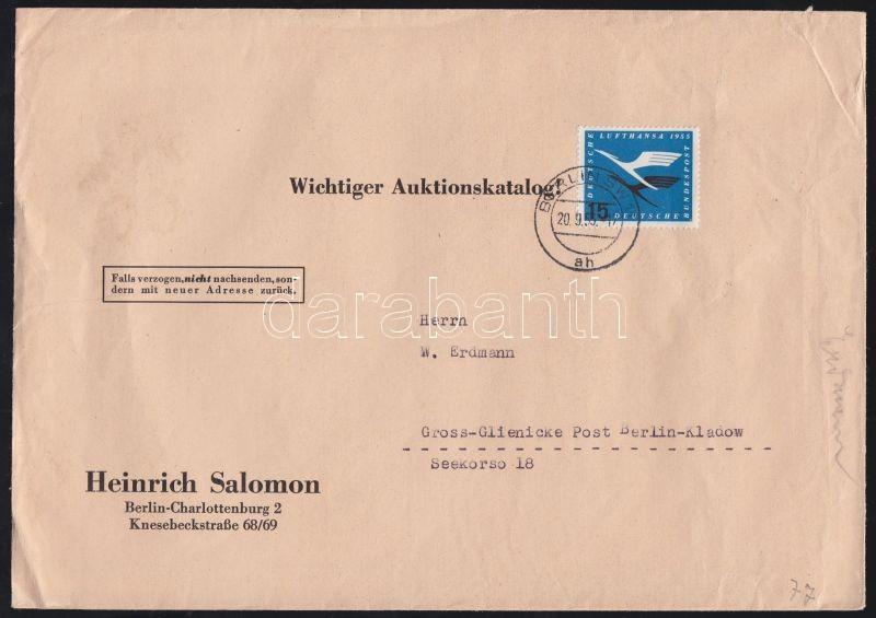 Mi 207 on cover, Mi 207 levélen