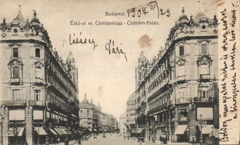 Budapest V. Eskü út és a Klotild paloták