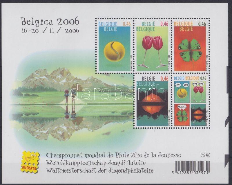 BELGICA 06 bélyegkiállítás blokk, BELGICA 06 stamp exhibition block, Internationale Briefmarkenausstellung BELGICA '06 Block