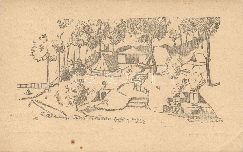 1922 Balatonaliga, Hatvani Turul cserkésztábor I. s: Piczek Zoltán