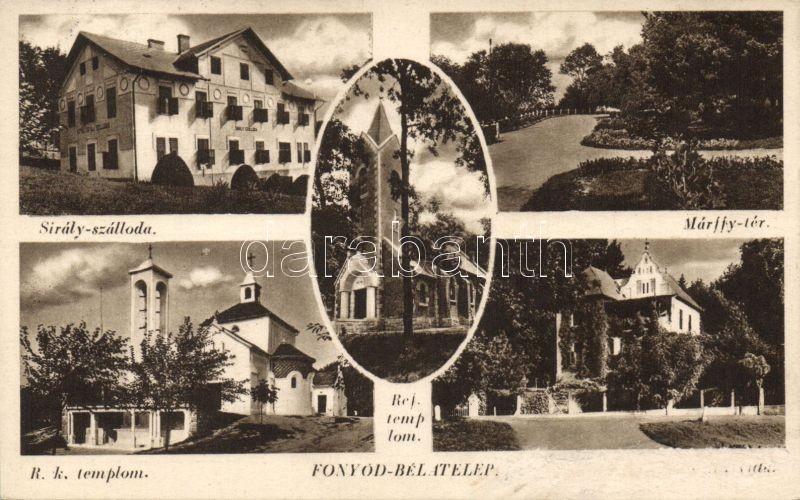 Fonyód-Bélatelep, Sirály szálloda, Márffy tér, Római katolikus templom