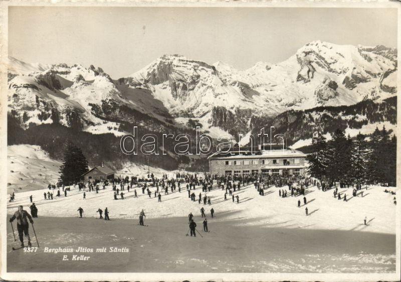 Säntis, Restaurant Jltios and skiers