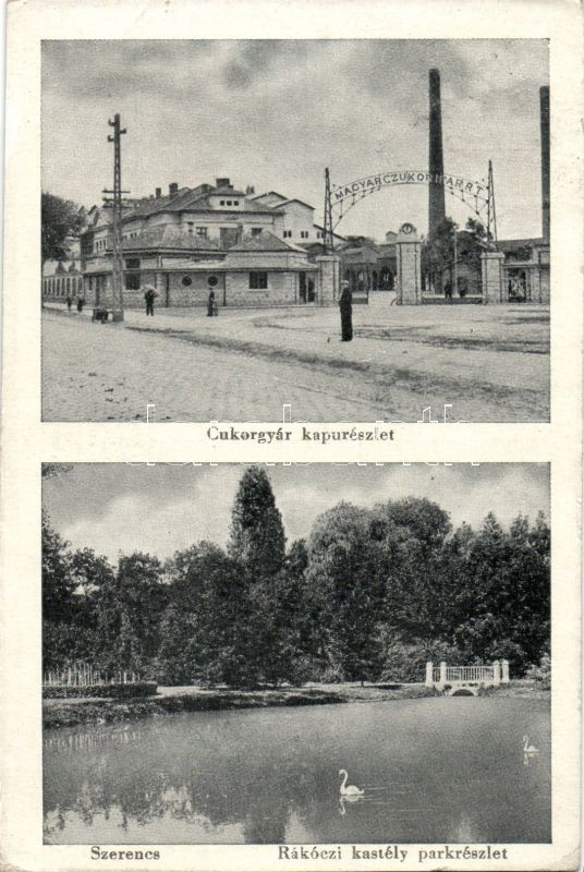 Szerencs, Cukorgyár kapu, Rákóczi kastély park