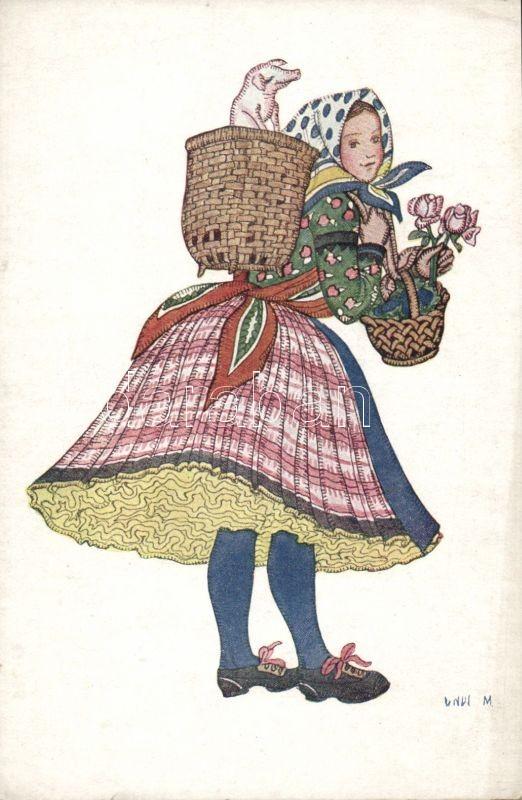 Hungarian folklore, basket s: Undi M., Magyar folklór s: Undi M.
