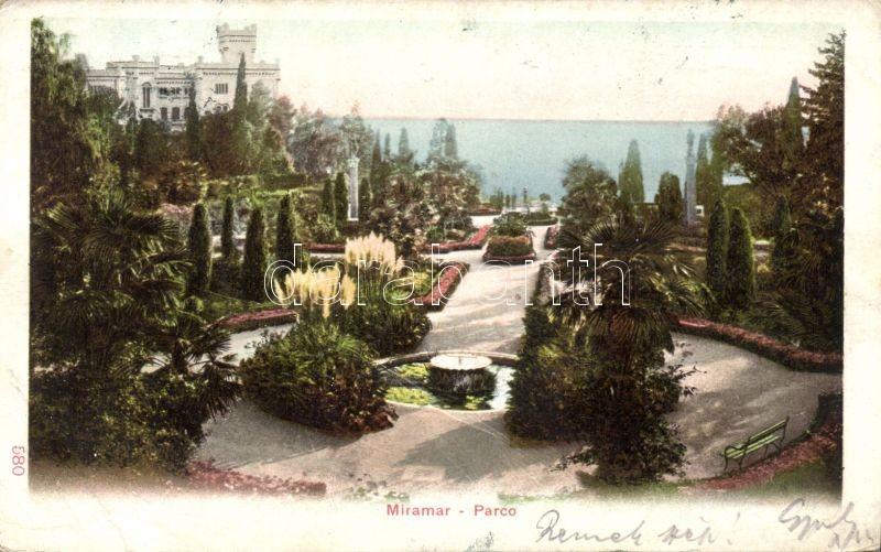 Trieste Miramar castle park