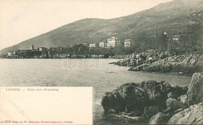 Lovran, Lovrana; Strandweg / harbour