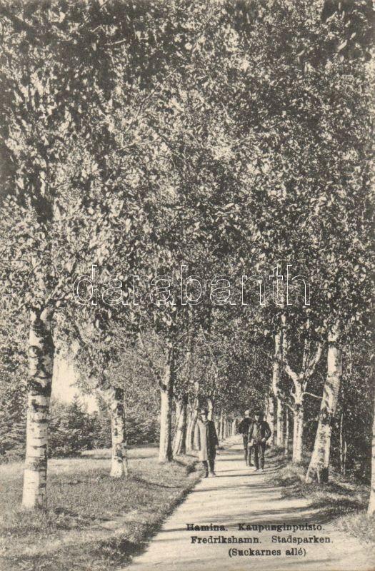 Hamina, Fredrikshamn; City park