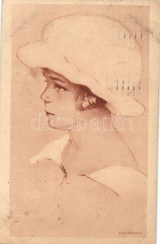 Little girl with hat s: Max Brüning, Kislány kalapban s: Max Brüning