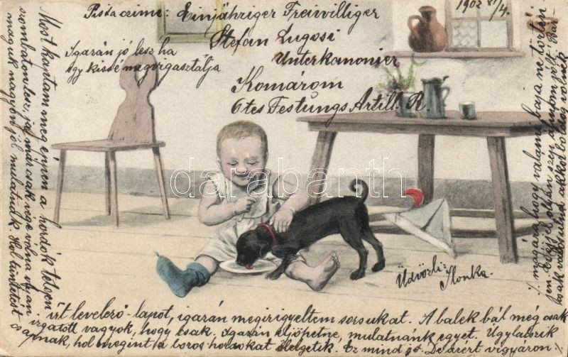Child with dog, Kisgyerek kutyával
