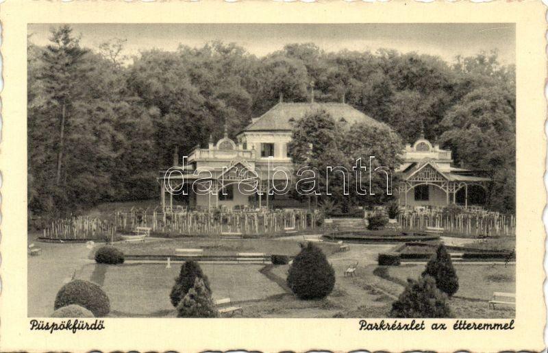 Baile 1 Mai, park, restaurant, Püspökfürdő, park, étterem