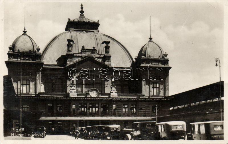 Plzen, Pilsen; railway station