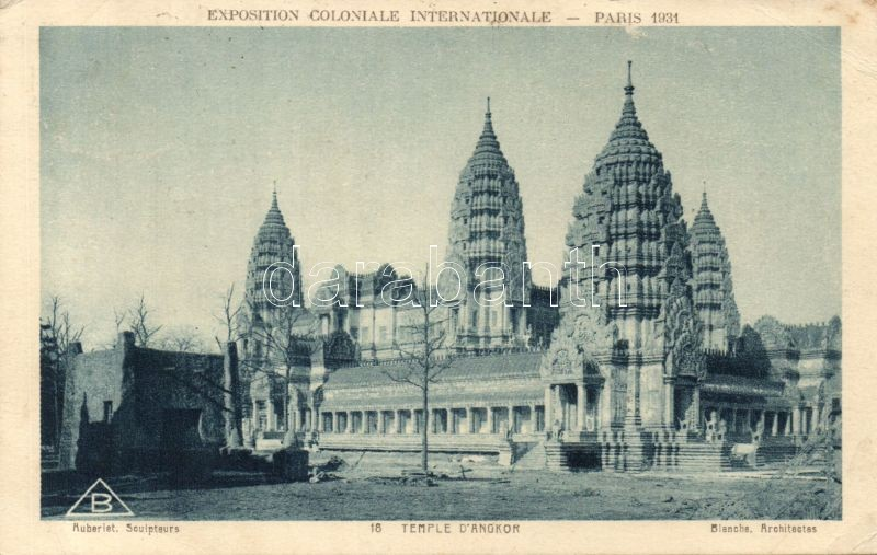 1931 Paris, Exposition Colonale Internationale, Temple d'Angkor So. Stpl