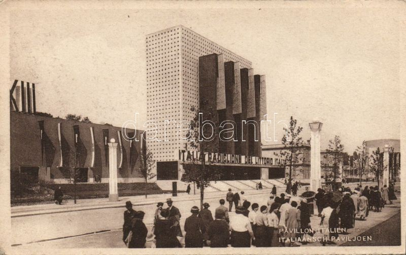 1935 Brussels, Bruxelles; Exposition / exhibiton, pavilion of Italy