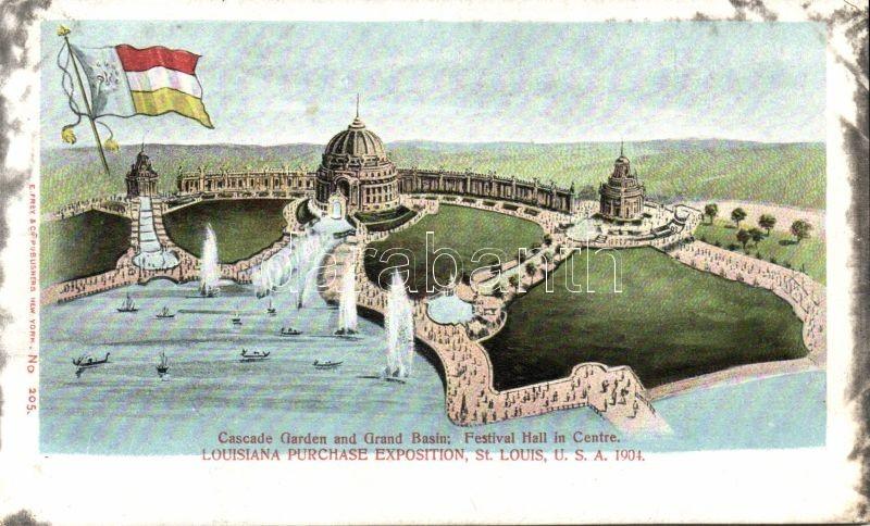 1904 St. Louis, Luisiana Purchase Expo, Cascade Garden and Grand Basin, R. Frey & Co. No. 205.