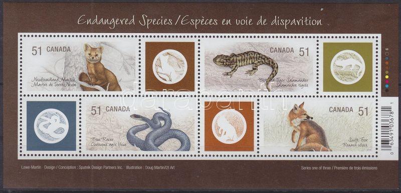 Endangered Animals block, Veszélyeztetett állatok blokk, Gefährdete Tiere Block