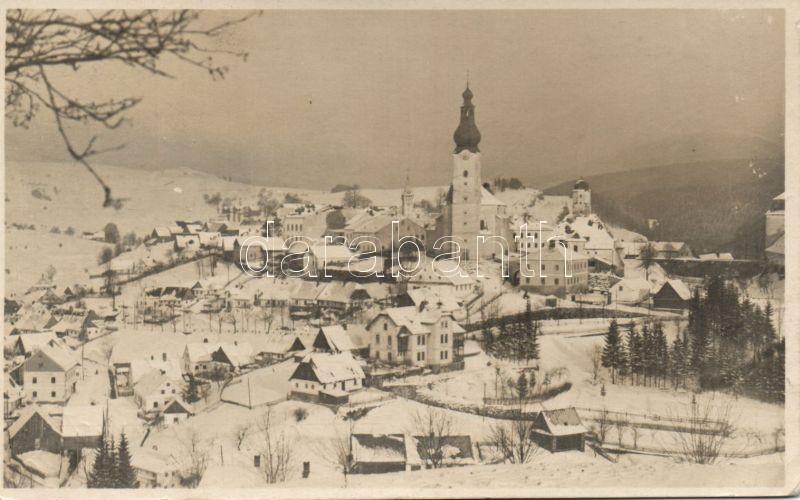 Branná, Goldenstein; Willy Urmann Hotel Deutsches Haus / hotel in winter