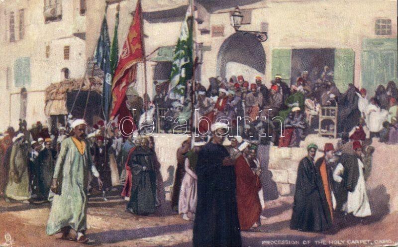 "Cairo, procession of the Holy Carpet, raphael Tuck & Sons ""Egyptian Gazette"" Oilette Postcard series No. 5."
